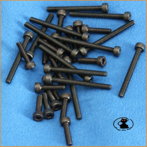 Viti M2,5x16 brugola testa cilindrica brunite ( 10 pzi )