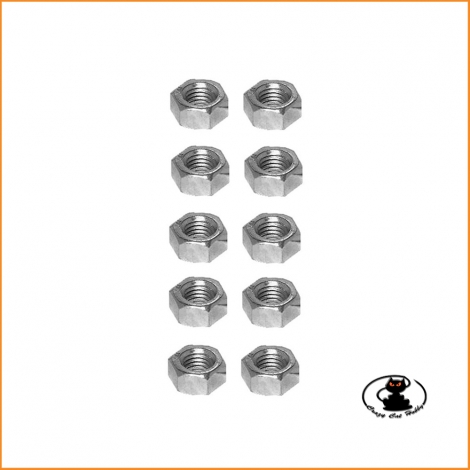 M4 hexagonal nuts galvanized finish ( 10 pcs )
