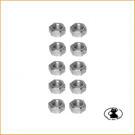M4 hexagonal nuts galvanized finish ( 10 pcs )