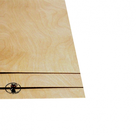88206 Birch plywood, thickness 2 mm. sheet size 200x600 mm