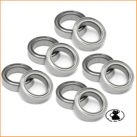Ball bearings 10x15x4 mm ZZ 10 pieces - Yeah Racing