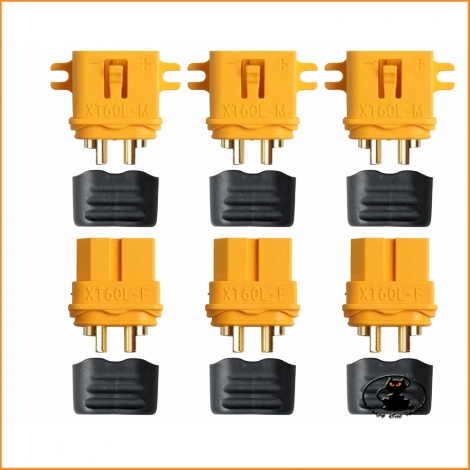 XT60L connectors - 3 pairs - AM-629-3P