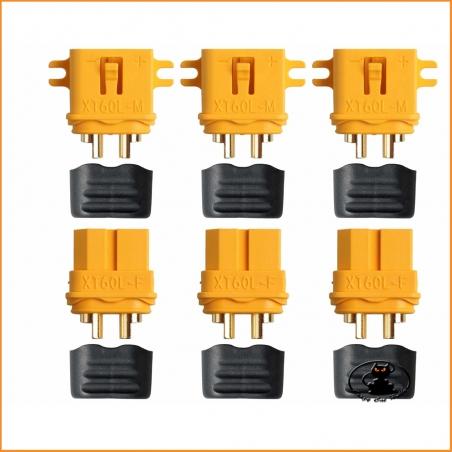 XT60L connectors - 3 pairs - AM-629-3P