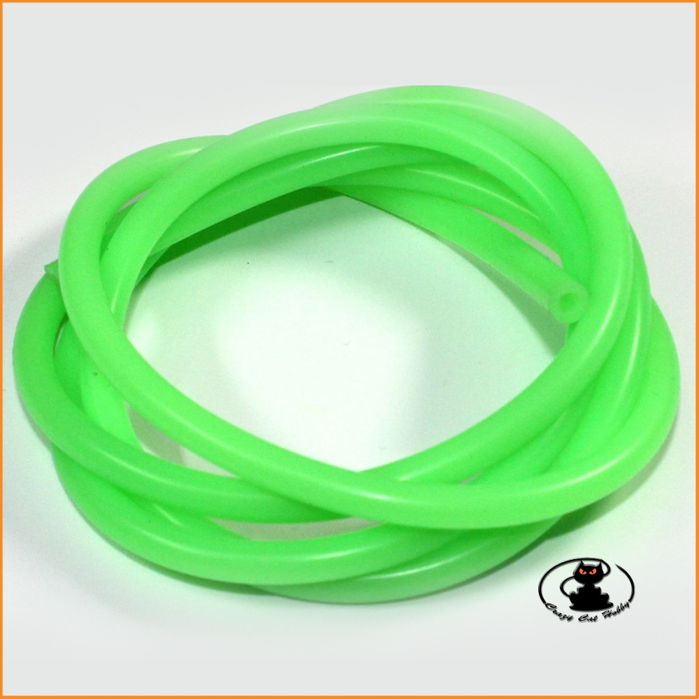 Green silicone mix tube diameter 2,5x5,5x1000 mm