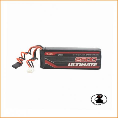 Batteria per ricevente Ultimate LIFE 6.6 V- 2S - 2500 mAh - standard - stick pack - flat - Ultimate UR4453