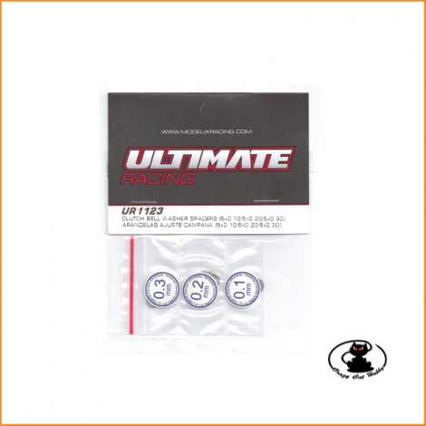 UR1123 Clutch bell washer spacers tickness 0,1 - 0,2 - 0,3 mm Ultimate Racing 15 pieces