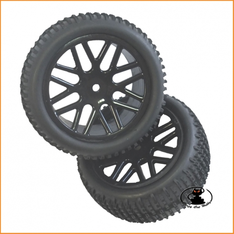 Ruote buggy 1:10 Black Bull BB22426