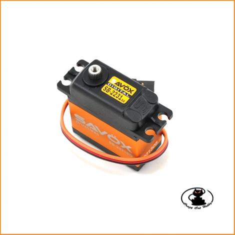 Savox SB-2231SG Servocomando Brushless HV 40 Kg ultra veloce SAXSB-2231SG