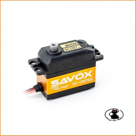 Servocomando digitale coreless Savox 1267SG, HV, con ingranaggi in acciaio e 20 kg di coppia e 60° 0,095 a 7,4 volt