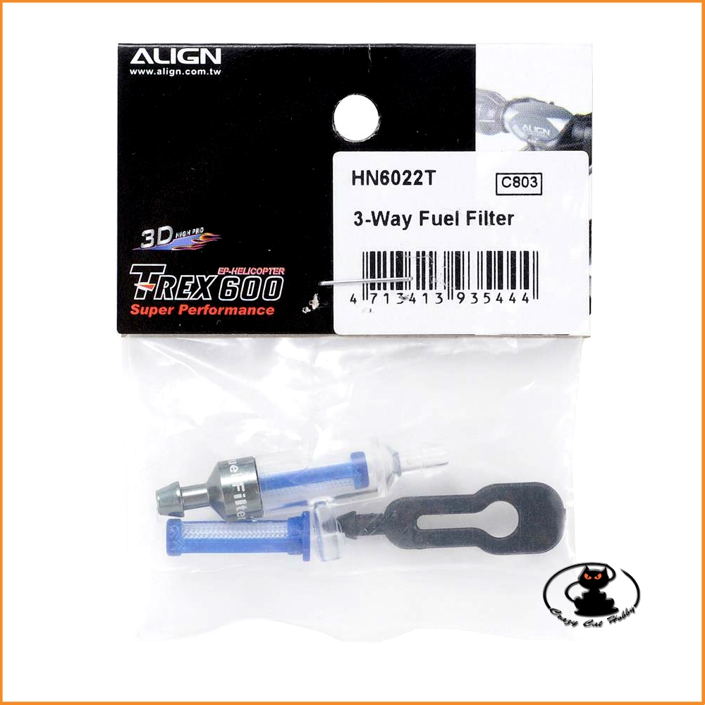 NH6022 3 way fuel filter align - for glow mix