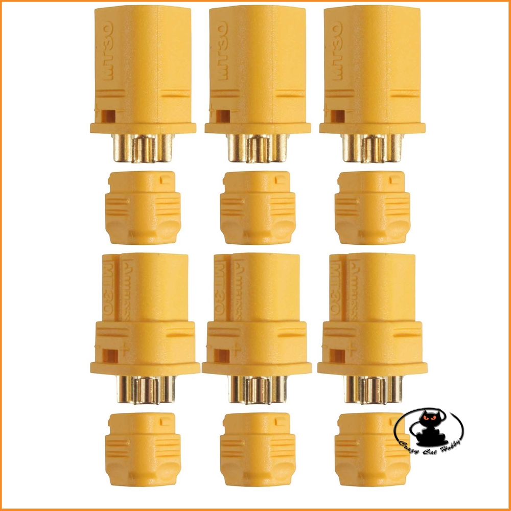 3-pin MT30 connectors (pairs) AM-634-3P