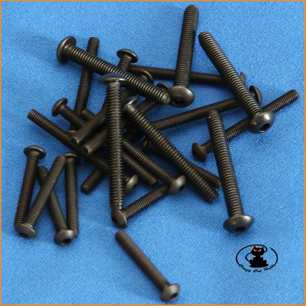 M3x8 hex socket button head burnished screws ( 10 pcs )