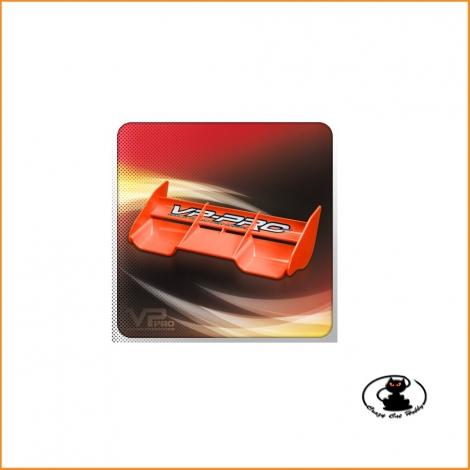 Alettone arancione Hi Down Force universale per buggy 1:8  VP PRO