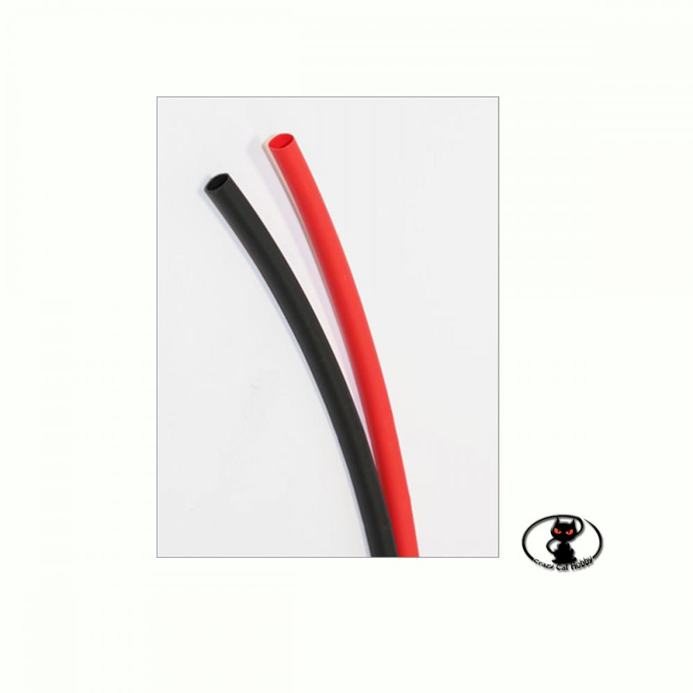CW115 termoretraibile rosso e nero 1 metro + 1 metro, diametro4.8 mm