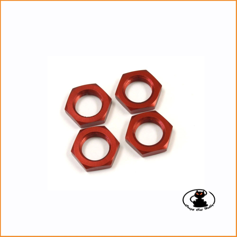 IF222R Dadi ruota 17 mm colore rosso - Kyosho
