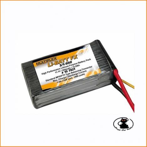 Batteria Lipo 3S 950 mAh 25C Multiplex  #157321
