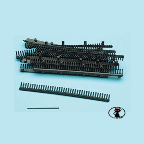 10/32 Rivets in plastic, black color, diameter. 1.5 mm.