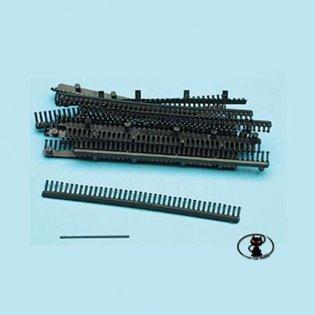 10/32 Rivetti in plastica, colore nero,  diametro. 1.5 mm