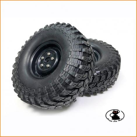 Ruote crawler 1.9 Absima Extra Soft incollate su cerchi neri -2500034 ( 2 pezzi )