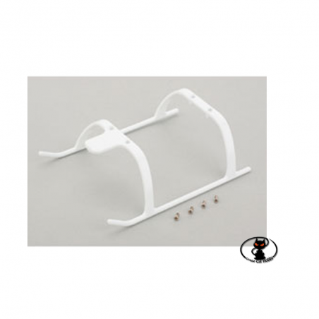 BLH3706W-101535 Replacement landing gear for BLADE 130X-120S in white color.