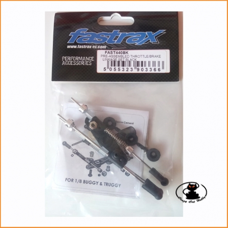 FAST440BK Kit tiranteria gas-freno nero - Fastrax