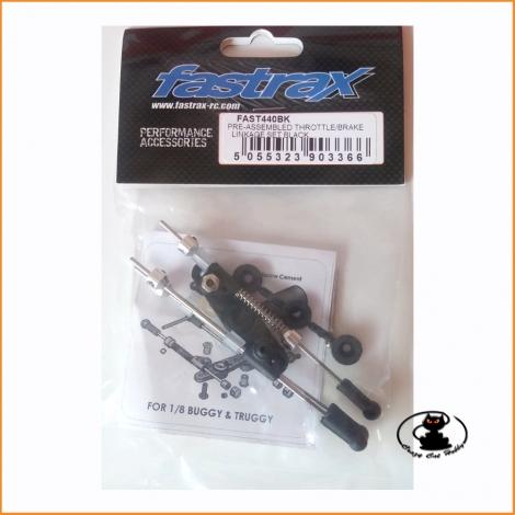 FAST440BK thottle/brake linkage set black - Fastrax