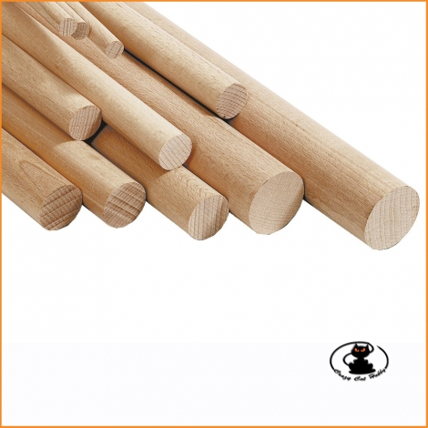 230283 Beech wood rods ø 3 x 1000 mm