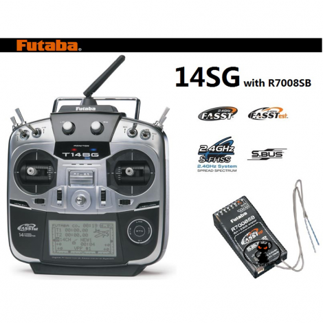 1114b FUTABA 14SG con ricevente R7008SB (2,4Ghz) MODO 2