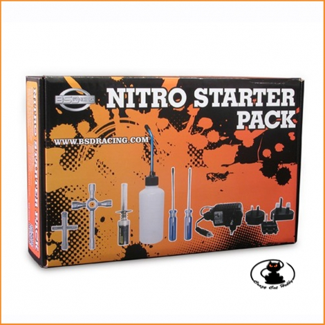 Starter kit for cars, planes, and RC boats with glow / nitro engines