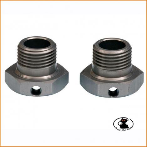 E0240 Wide Offset Wheel Hubs 1mm 2pcs - Mugen MBX8-7-MGT7