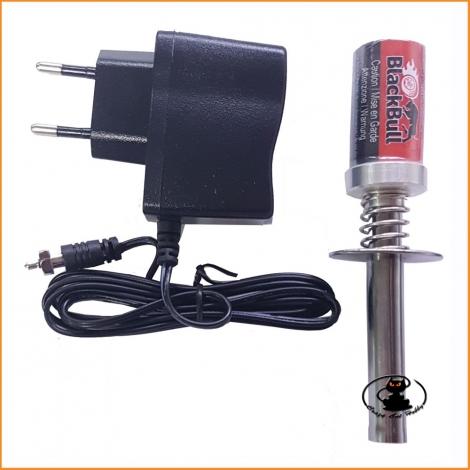 Accendi candela - accendicandela nimh 1800 mah con caricabatteria - Black Bull BB80101