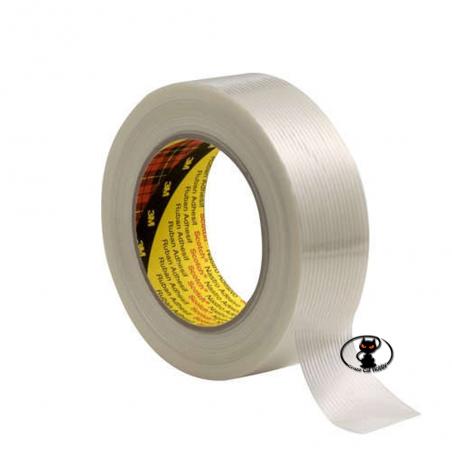 112122-8956 Nastro rinforzato in fibra di vetro mm. 25 x 50 m. , per rinforzi, riparazioni, fissaggi ad alta tenuta