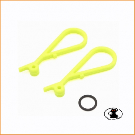 IF444-02KY Fluorescent Yellow Fuel Tank Lever Mp10 Mp9 Kyosho