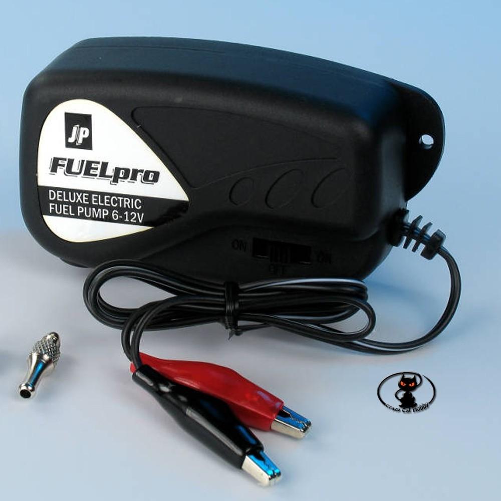 112897-Pompa elettrica per miscela glow ( alcol nitrometano ) de-luxe JP con accessori per miscela
