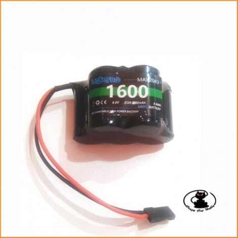 Batteria RX nimh 1600 mah 6V (3+2) MAXPRO  2043