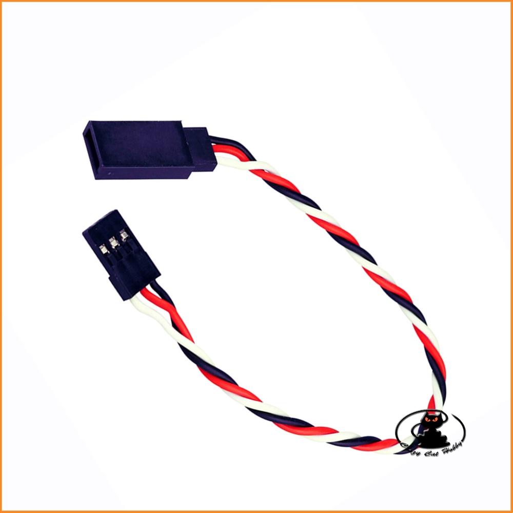 YUKI MODEL servo extention cable gold connector UNI 20 cm twisted -998057B
