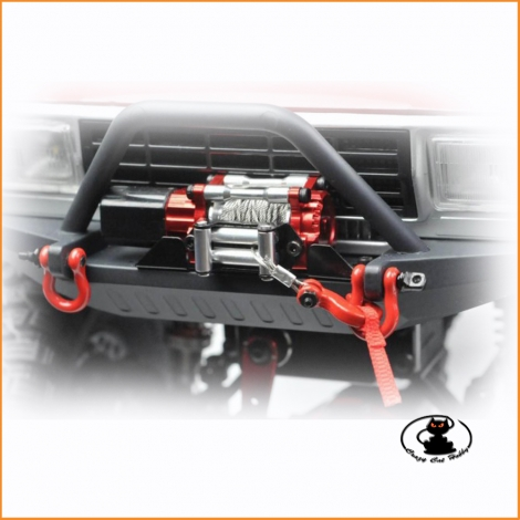 Winch for 1:10 Scaler, made in aluminum CNC, with control unit for waterproof RX - Cross Rc RCW-10