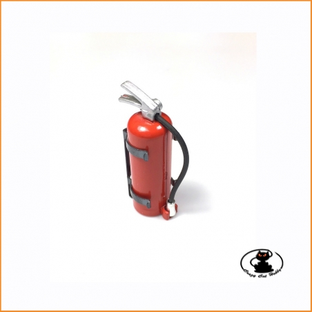 Fire extinguisher with support 1:10 scale height 47 mm for scaler crawler cars airplanes helicopters trucks