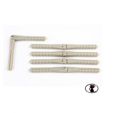 113584-Nylon hinge, pin type for aileron, flaps, rudder, aircraft size ø 4.5x67 mm