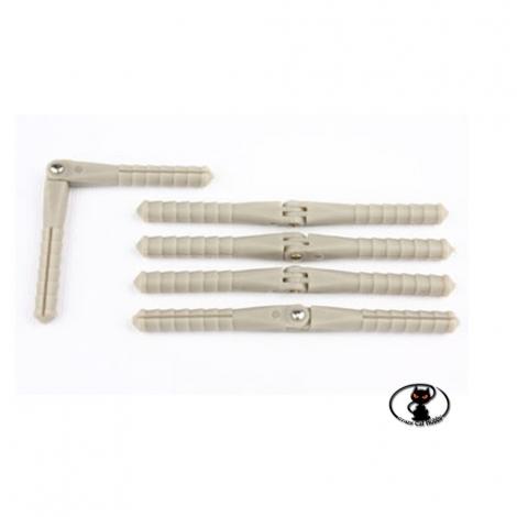 113586-Cerniera in Nylon, tipo perno per alettoni, flaps, timone, di aerei  dimensioni ø 2.5x48 mm