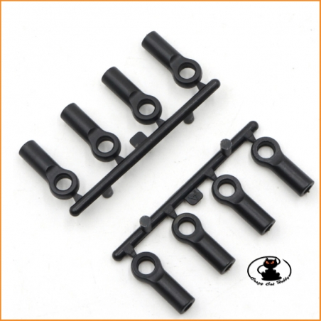 Plastic Uniball 4.8x13 mm - 8 pcs - Yeah Racing YA-0553