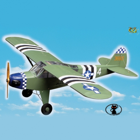 VQA086-PA0096 Aircraft L-4 Grasshopper wingspan 1520 mm burst or electric engines