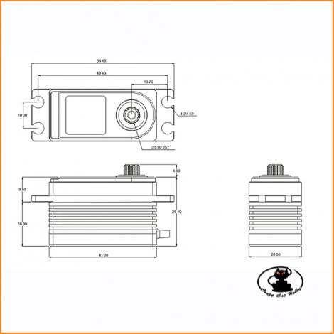 SRT BH615S servo 15 kg brushless low profile HV 6/8.4v