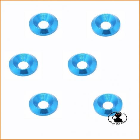 M3 CKS Washer Blue - 6 pcs - FAST140 - Fastrax