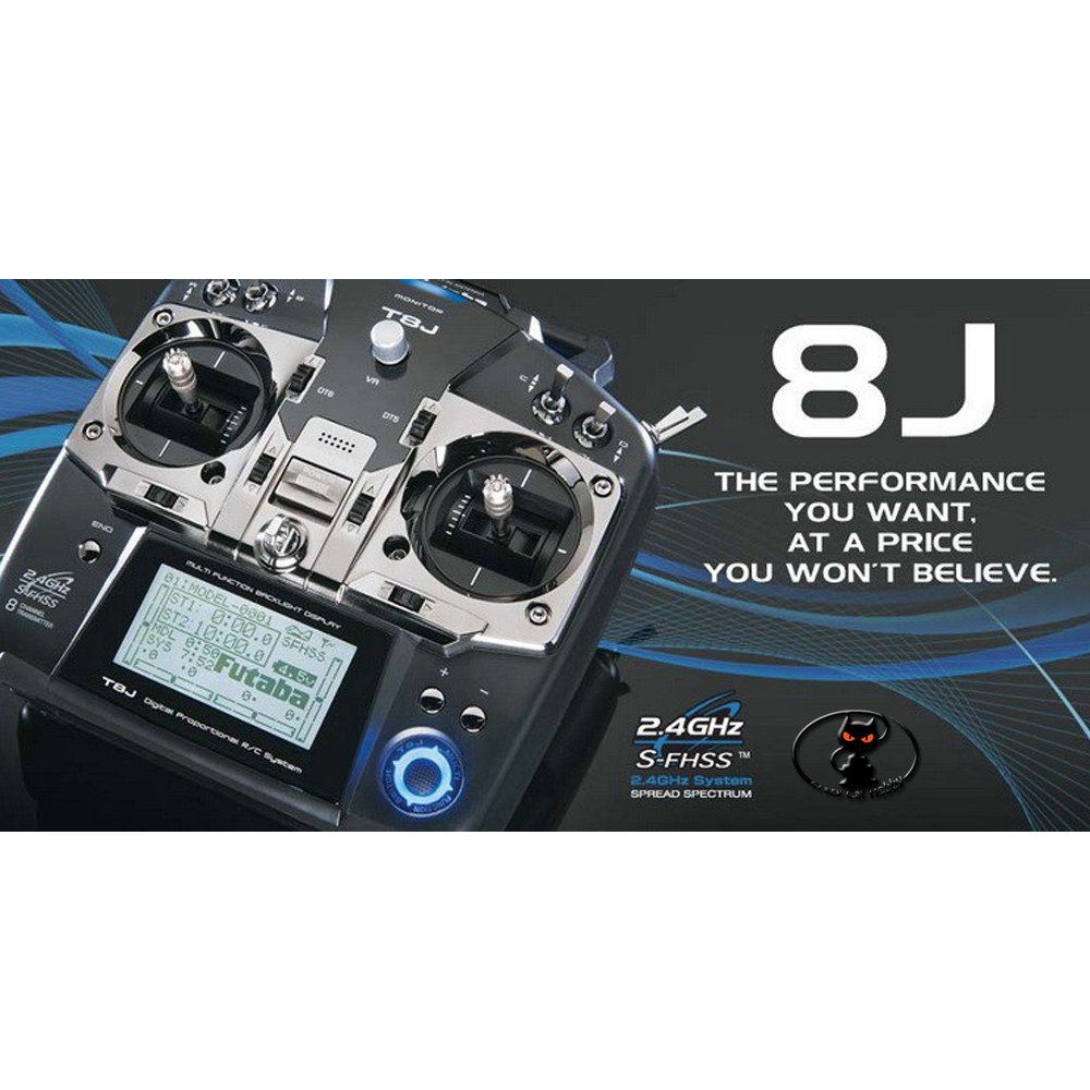 1079-FUTABA 8J 8-channel receiver with R2008SB receiver (2.4Ghz) Warranty RadiosystemsMode 1-2-3-4