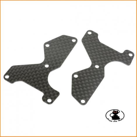 E2155 Front Lower Arm Hardner Plate CFRP 1.2 mm MBX8 - MUGEN