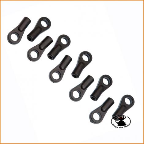H0855 Mugen Uniball Plastica 6mm Sterzo (C0111C) 10 p.zi
