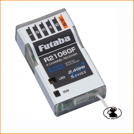 Futaba R2106GF 2.4GHz S-FHSS 6-channel receiver for slow and park flyers and electric helicopters