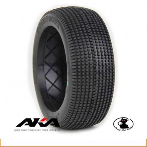 AKA tire buggy 1:8 double down soft (bulk - non insert no rim)  14019SXT