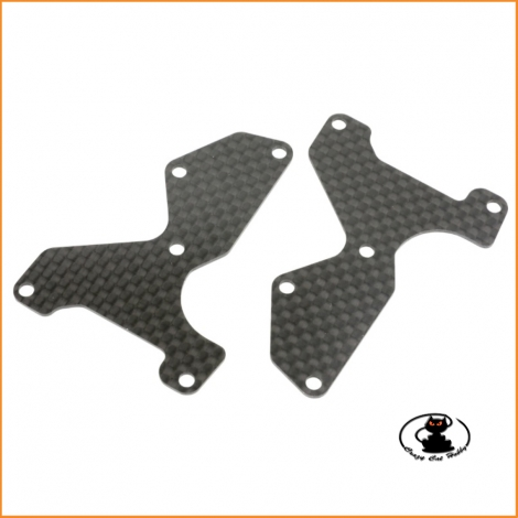 E2154 Front Lower Arm Plate CFRP 1 mm MBX8 - MUGEN